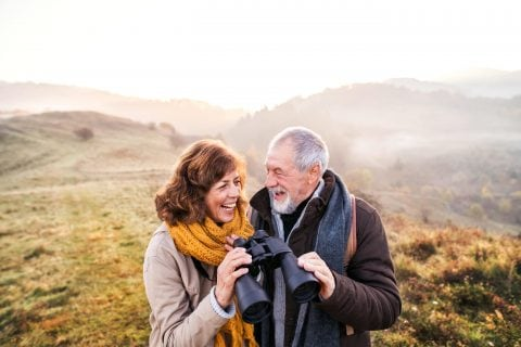 Stock image of an older couple in colorado
