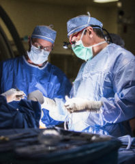Dr Mehall in surgery